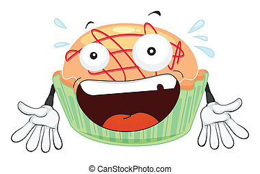 a cake  - illustration of a cake on a white background