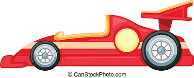red car - illustration of red car on a white background