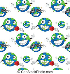 earth planet - illustration of a earth planet on a white...