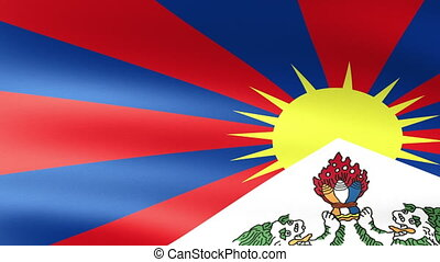 Tibet Flag Waving