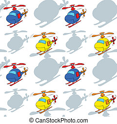 helicopters - illustration of a helicopters on a white...