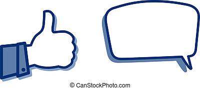 thumb and call out - illustration of a thumb and call out on...