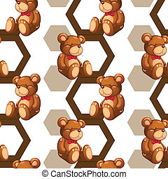 array of teddy - illustration of an array of teddy bear on...