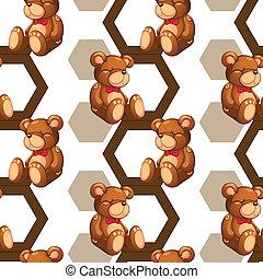 array of teddy - illustration of an array of teddy bear on...
