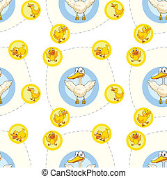 Seamless pattern with kids theme - Illustration of a...