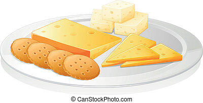biscuits and cheese - illustration of a biscuits and cheese...