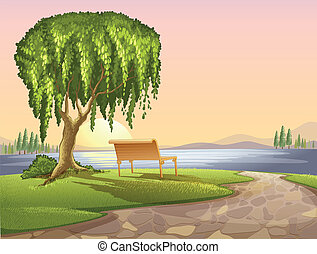 park - Illustration of a park scene