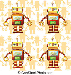 robots - illustration of a robots on a white background