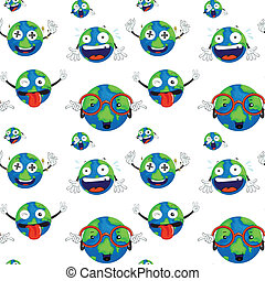 earth planet - illustration of the earth planet on a white...