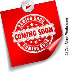 Coming soon vector sticker illustration