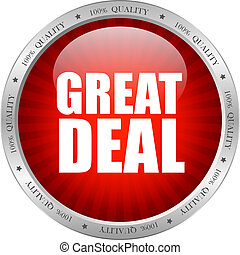 Vector great deal - Great deal icon, vector illustration
