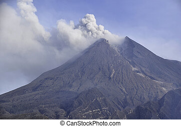 Smoke And Ash - Active Volcano - Active volcano in Central...