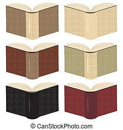 books in leather covers - books in leather covers on white...