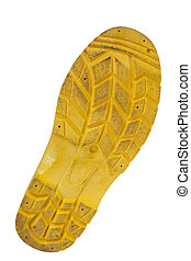 soles of rubber boot