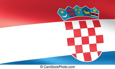 Croatian Flag Waving