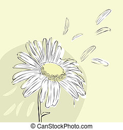 Background with daisies - minimalist light background with...