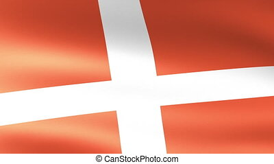 Denmark Flag Waving