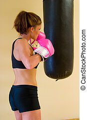 Punching With Pink Gloves 1