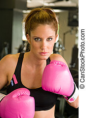 Woman In Boxing Gloves 5