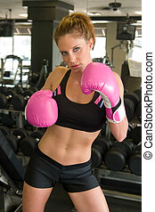 Woman In Boxing Gloves 3