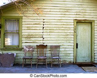 vacío, sillas