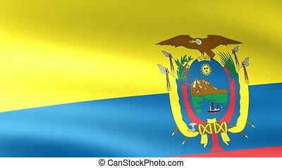 Ecuador Flag Waving