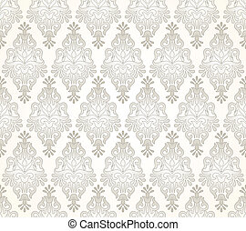 Seamless damask golden pattern