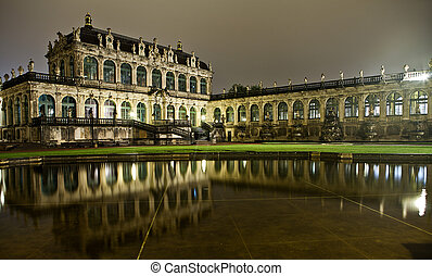 The Zwinger in Dresden at night