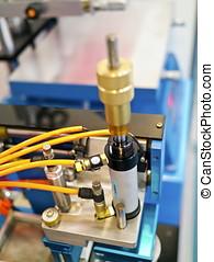part of printing machine - Closeup of printng machine...