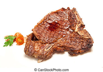 t-bone beef steak - Gourmet Main Entree Course t-bone beef...