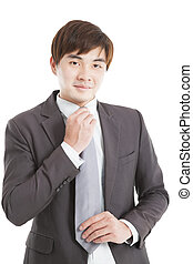 Handsome young asian businessman