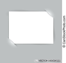 White note papers, ready for your message. Vector...
