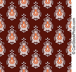 Brown seamless paisley background