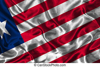 Silk Flag of Liberia