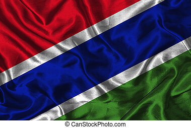Silk Flag of Gambia