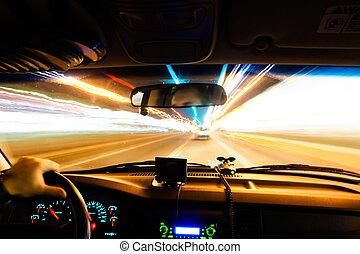 drivign at night