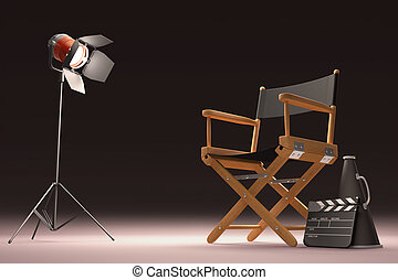 Lighting The Director - Objects of the film industry, the...