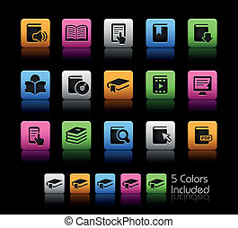 Book Icons // Color Box - The .eps file includes 5 color...