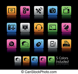 Communication Icons Color Box - The eps file includes 5...