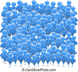 Abstract crowd of people, vector eps10 illustration