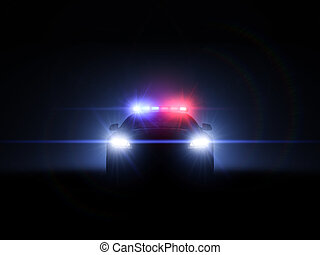 Police car with full array of lights and tactical lights. 3d...