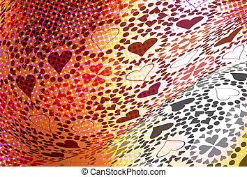 Heart pattern illustration