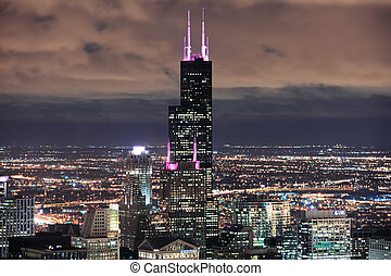 Willis Tower in Chicago - CHICAGO, IL - Oct 6: Willis tower...