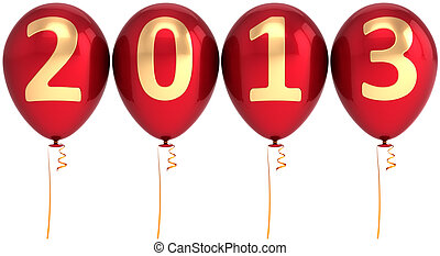 New 2013 Year helium balloons - New 2013 Year balloons party...