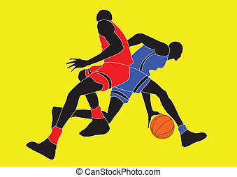 basket ball - illustration basket ball player