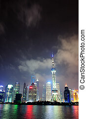 Shanghai skyline at night - Shanghai city skyline at night...