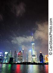 Shanghai skyline at night - Shanghai city skyline at night...