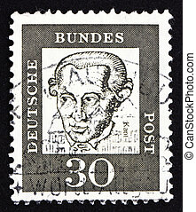 Postage stamp Germany 1961 Immanuel Kant, philosopher -...