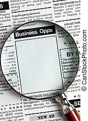 business opportunity - Fake Classified Ad, newspaper,...