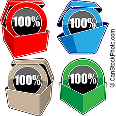 advertising boxes set vector illustration